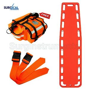 Orange Emt Backboard Spine Board Stretcher Immobilization Free Emt Trauma Bag
