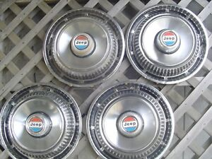 1974 77 Jeep Cj Cherokee Wagoneer Hubcaps Wheel Covers Center Caps Pickup Truck