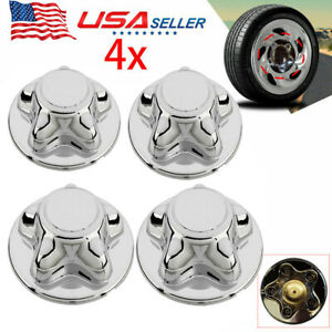 4x For 1997 2003 Ford F150 F 150 97 02 Expedition Hub Wheel 7 Center Cap Chrome