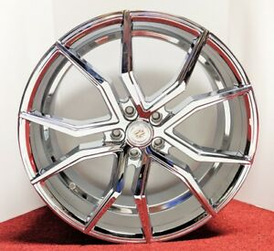New Spider Look Set Of 4 Cadillac Chrome Wheels 20 X 8 5 Fit Most Models