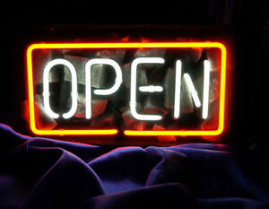 Bright Animated Open Home Door Room Shop Business Light Glass Neon Sign 8 x13