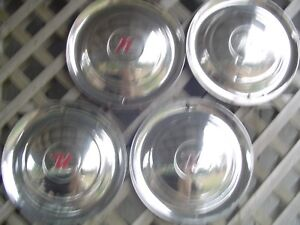 1954 54 Nash Rambler 15 In Hubcaps Wheel Covers Center Caps Antique Vintage