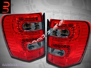 99 04 Jeep Grand Cherokee Led Tail Lights Red Smoke 1999 00 2001 2002 2003 2004