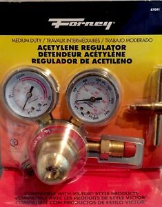 Acetylene Regulator Forney 87091 Heavy Duty For Victor Style Products