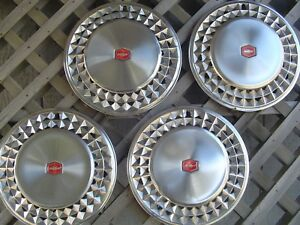 Chevy Chevrolet 1981 81 Malibu Hubcaps Wheel Covers Center Caps 14 In Vintage