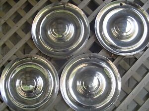 1951 1952 Chrysler Windsor Saratoga Hubcaps Wheel Covers Center Caps Antique