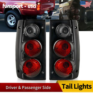 For 1989 1995 Toyota Pickup Truck Tail Lights Black Smoke Rear Lamps Left right
