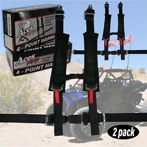 Pair Of Polaris Rzr 4 Point Harness E4 Certified 2 Padding Canam X3 Yxz