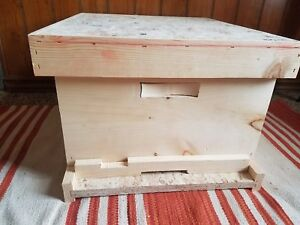 10 Frame Bee Hive Complete Frames Telescoping Cover Bottom Board Box Reducer