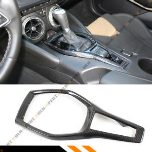 For 2016 18 Chevy Camaro Ss Rs Carbon Fiber Shifter Gear Box Console Trim Cover