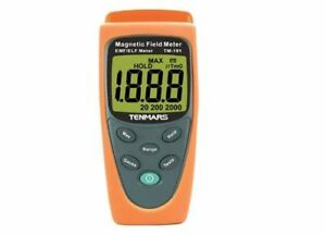 New Original Tenmars Tm 191 Tm191 Magnetic Field Meter Emf Lcd Single axis