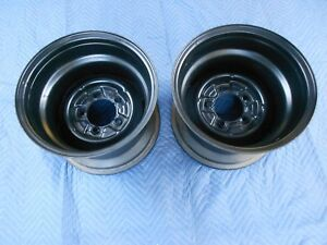 Pair 2 15x10 Vintage 50s 60s Ford Truck 5 On 5 1 2 Stock Style Wheel Willies