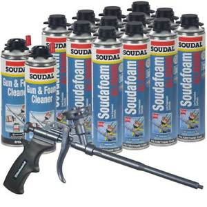 Soudal Foam 12 24 Oz All Season Window Door 2 Cleaner Teflon Coated Foam Gun