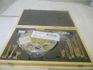 Spi Mechanical Interchangeable Anvil Outside Micrometer 0 To150mm Range 14 060 8