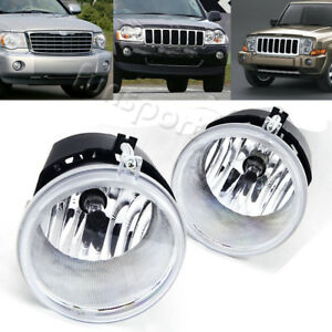 For 05 10 Jeep Grand Cherokee 06 10 Commander Clear Bumper Fog Light Lamps Bulbs