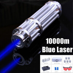 High Power Blue Laser Pointer Burning Light 450nm Beam Pen 5mw 5 Caps Usa stock