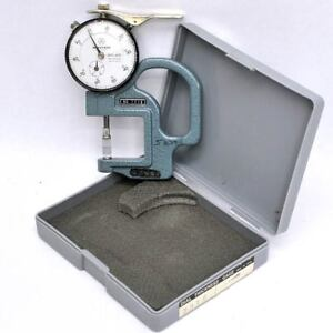 Mitutoyo 7316 Groove Thickness Dial Gauge Gage 0 001 To 0 400 W Blade Anvils