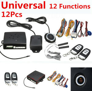 13 Function Car Alarm Start Security System Keyless Push Button Remote Operation