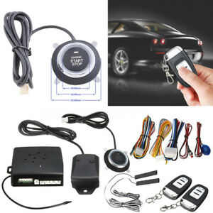 Multi function Vehicle Car Alarm Start Security System Keyless Entry Push Button