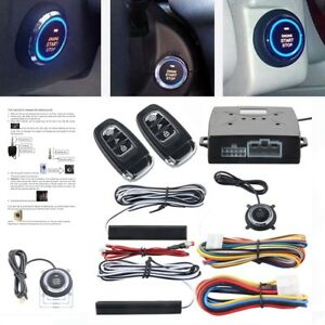 Hot Car Alarm System Passive Keyless Entry Push Button Remote Engine Start stop