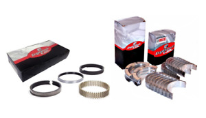 Main Rod Bearings W Piston Rings For 1968 1986 Small Block Ford Sbf 302 5 0l