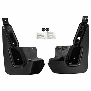Oem New Front Splash Guards Mud Flaps Gloss Black 15 19 Chevrolet Gmc 22922763