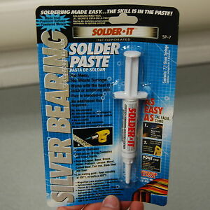 Solder it Sp 7 Silver Bearing Solder Paste Syringe 7 1 Grams Blended Flux 12pc