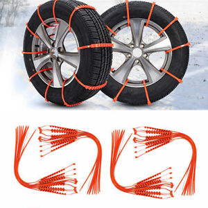 10pcs Car Truck Anti skid Chains For Snow Mud Wheel Tyre Tire Ties Cable Nylon