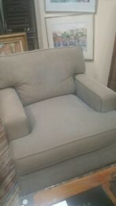 Pair Of Robb Stucky Upholstered Arm Chairs