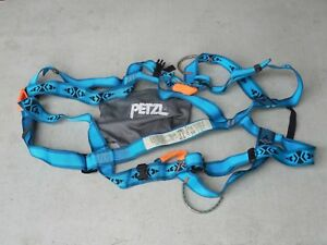 Petzl Full Body Harness Size Mens Large Color Turquoise Blue