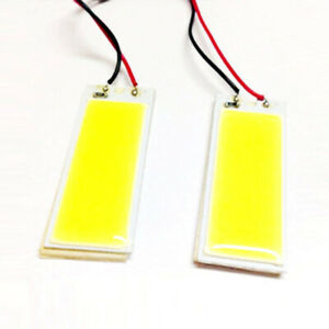 2x New 12v 6w 36smd Cob Led Car Interior Dome Panel T10 Festoon Ba9s Light Bulb