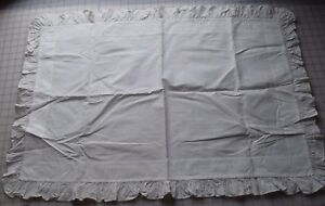 Antique Cotton Pillow Sham Crisp And Lovely Has Stencilled Name