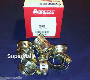 Breeze Hose Clamps Stainless Steel Band 10 Fits 5 8 Id Heater Hose Made In Usa