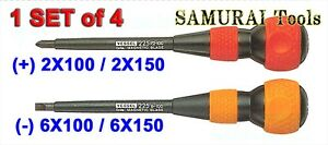 Vessel Insulated Ball Grip Screwdriver No 225 Series Set Of 4 Made In Japan