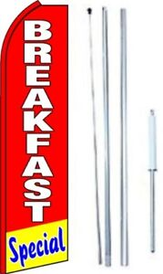 Breakfast Special Swooper Flag With Complete Hybrid Pole Set