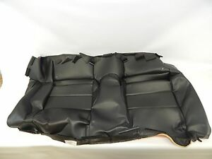 New Oem 2005 2009 Ford Mustang Rear Seat Back Cover Black Leather 5r3z6363804baf