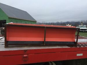 New 86 Snow Plow Heavy Duty Skid Steer Attachment Paint Faded Alittle