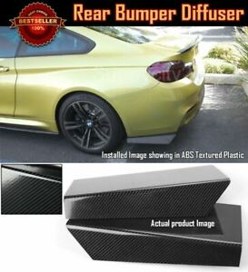 15 Rear Bumper Carbon Effect Fin Apron Splitter Diffuser Valence Spats For Bmw