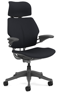 Humanscale Freedom F211 Graphite Wave Fabric Titanium Frame Office Desk Chair