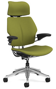 Humanscale Freedom F213 Aluminum Advanced Duron Arms Office Desk Chair Sage