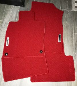 2016 2018 Honda Civic Coupe Hfp Red Floor Mats Oem New 08p15 tbj 110a