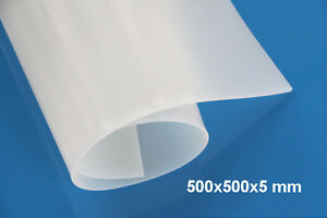 5mm Thickness 50x50cm 20 x20 Silicone Rubber Sheet Plate Mat High Temp Resist
