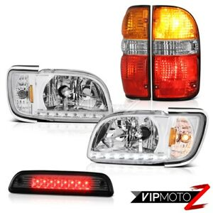 01 02 03 04 Toyota Tacoma 4wd Third Brake Lamp Red Tail Lights Headlamps Bumper