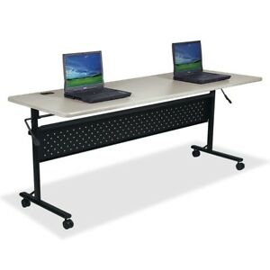 Lorell Flipper Training Table Rectangle Top 72 Table Top Length X 24