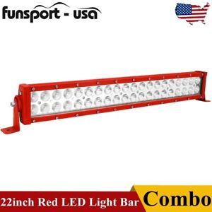Dual Row 22 Inch 280w Led Work Light Bar Spot Flood Offroad Driving 12 22 32