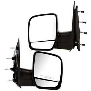 New Pair Of Manual Mirrors Fits 03 04 Ford Econoline With Lifetime Warranty