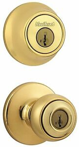 Kwikset Combination Set 440t 660 Polished Brass Square Corner Latch Door Th
