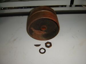 Allis Chalmers B Tractor Belt Pulley Ac C Flat Pulley With Nut Lock Washer Key