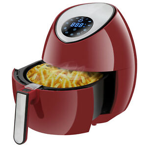 Electric Air Fryer 3 5l 3 7qt Touch Lcd Screen Timer Temperature Control 1500w