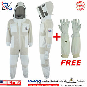 Beepro 3 Layer Beekeeping Full Suit Ventilated Jacket Astronaut Veil l